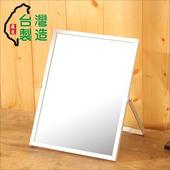 《BuyJM》鋁合金桌上鏡/化妝鏡(銀色)