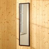 《BuyJM》亞妮實木框長型壁鏡/穿衣鏡-高125公分(胡桃色)