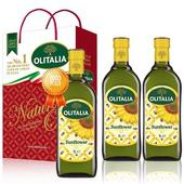 《Olitalia 奧利塔》葵花油禮盒2組(1000ML/罐;2罐/組);送葵花油1000MLX1(無)