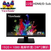 《ViewSonic 優派》22型寬螢幕(VA2210-MH)