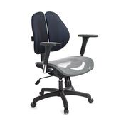 《GXG》GXG 短背網座 雙背椅 (4D升降扶手)  TW-2801 E7(請備註顏色)