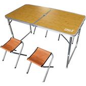 《露遊聚》便攜式桌椅組-顏色隨機(收納尺寸:長63.5x寬63.5x厚6cm)