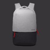 USB充電多功能減壓雙肩後背包(淺灰)
