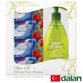 《土耳其dalan》香氛沐浴寵愛媽咪限定禮盒(液態皂+香氛皂4入)