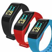 《IS愛思》HO18 彩色螢幕心率運動智慧手環(黑色)