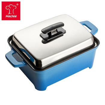 《摩堤MULTEE》A5鑄鐵摩力鍋(藍漸層內黑)