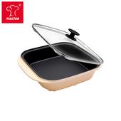 《摩堤MULTEE》饗宴系列-28cm鑄鐵方型平烤盤_晶鑽黃(晶鑽黃)