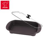 《摩堤MULTEE》饗宴系列-A4L鑄鐵平深烤盤(霧黑)