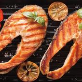 《欣明生鮮》挪威鮭魚切片(100公克±10%/1片)*1包 $9