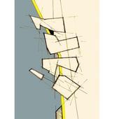 《晶瓷畫》抽象線條32HTJC(1)-C(50X70X3.5cm)