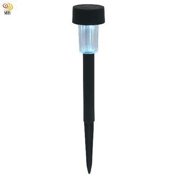 《月陽》黑色小鋼釘太陽能自動光控LED庭園燈草坪燈插地燈(5016B)