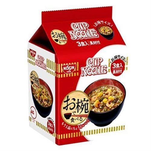《日清》碗型麵-3食入/袋(醬油-96G-即期2020.09.10)