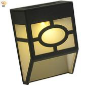 《月陽》歐式太陽能自動光控2LED璧燈台階燈庭園燈(EU118)(黃光LED燈)