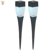 《月陽》晶透太陽能自動光控LED庭園燈草坪燈插地燈超值2入(Q3752)