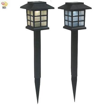 《月陽》日式太陽能自動光控LED庭園燈草坪燈插地燈超值2入(JP50252)(黃光LED燈)