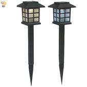 《月陽》日式太陽能自動光控LED庭園燈草坪燈插地燈超值2入(JP50252)(白光LED燈)