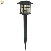 《月陽》日式太陽能自動光控LED庭園燈草坪燈插地燈(JP5025)(黃光LED燈)