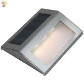 《月陽》不鏽鋼太陽能自動光控3LED台階燈璧燈庭園燈(ST108)(黃光LED燈)