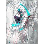 《晶瓷畫》抽象派 32HTJC(5)-B(50X70X3.5cm)