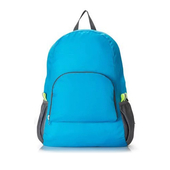 折疊雙肩收納包 42*30.5*16cm藍 $55