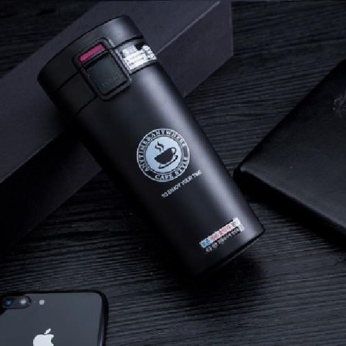 《304不鏽鋼》真空彈蓋式保溫杯 380ml/個(黑)