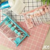 《韓版》輕透旅行多款分裝瓶罐12件套組(水藍)