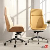 邏爵LOGIS-精品時尚現代主管椅 辦公椅 電腦椅 事務椅 WA80(米白色皮面)