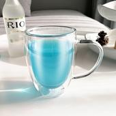 《高硼硅》雙層隔熱玻璃水杯350ML/個 $110