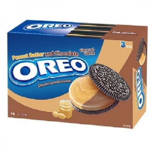 奧利奧 夾心餅乾-411g(花生醬&巧克力)