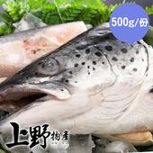 《上野物產》大規格智利半切鮭魚頭 (500g±10%/包)(6包)