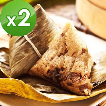《預購-樂活e棧》頂級素食滿漢粽子(6顆/包 ,共2包)