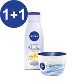 《妮維雅》全方位潤膚霜400ml+妮維雅 植物精華油身體乳-甜美香草香200ml (2020/10/10到期)