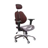 《GXG》高背網座 雙背椅 (鋁腳/3D升降扶手) TW-2802 LUA9(七色可選)
