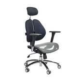 《GXG》高背網座 雙背椅 (鋁腳/4D升降扶手)  TW-2802 LUA7(七色可選)