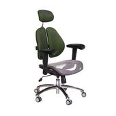 《GXG》高背網座 雙背椅 (鋁腳/升降滑面扶手)  TW-2802 LUA6(五色可選)