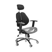《GXG》高背網座 雙背椅 (鋁腳/升降扶手)  TW-2802 LUA5(五色可選)