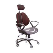 《GXG》高背網座 雙背椅 (鋁腳/D字扶手)  TW-2802 LUA4(五色可選)