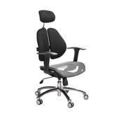 《GXG》高背網座 雙背椅 (鋁腳/T字扶手)  TW-2802 LUA(七色可選)