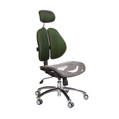 《GXG》高背網座 雙背椅 (鋁腳/無扶手)  TW-2802 LUANH(七色可選)