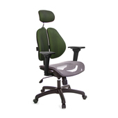 《GXG》高背網座 雙背椅 (3D升降扶手)  TW-2802 EA9(七色可選)