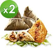 《預購-樂活e棧》素食客家粿粽子+三低招牌素滷粽子6顆/包 ,共2包 $905