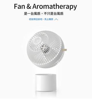 球形香薰空氣循環風扇 7吋-白色(175x175x244mm)