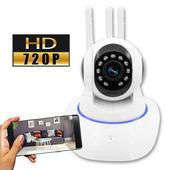 監視者 360度全景紅外線三天線WiFi網路監控攝影機(白色)