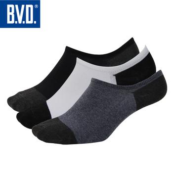《BVD》雙效抗菌除臭低口男襪5雙組-B396(黑*5雙)