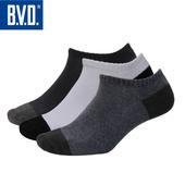《BVD》雙效抗菌除臭毛巾底男踝襪5雙組-B387(黑*5雙)