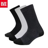 《BVD》竹炭男休閒襪5雙組-B349(黑*5雙)