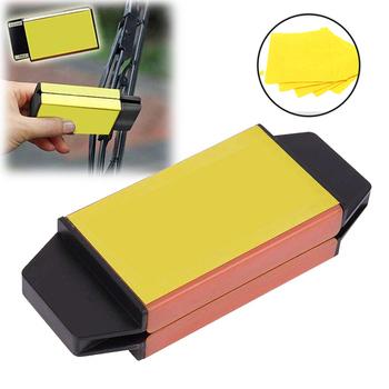 雨刷修復器 附清潔擦拭布5片(黃色)