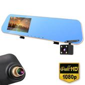 《IS愛思》RV-05XW PLUS 防炫藍鏡後視鏡前後雙鏡頭高畫質行車紀錄器