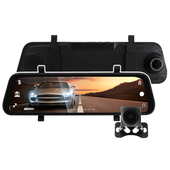 《IS愛思》RV-18XW 8.8吋全螢幕電子式後照鏡1080P雙鏡頭行車紀錄器(黑色)