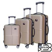 《BATOLON寶龍》【20+24+28吋】四季風采ABS可加大硬殼箱/行李箱(香檳金)